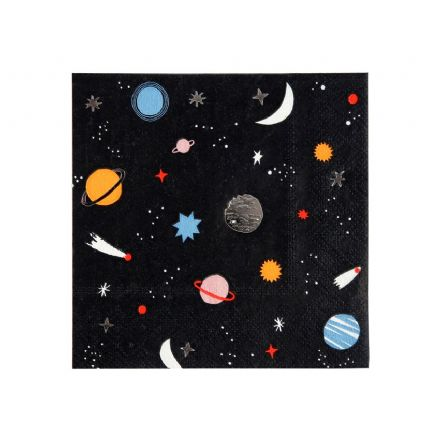 To The Moon Space Paper Napkins - small